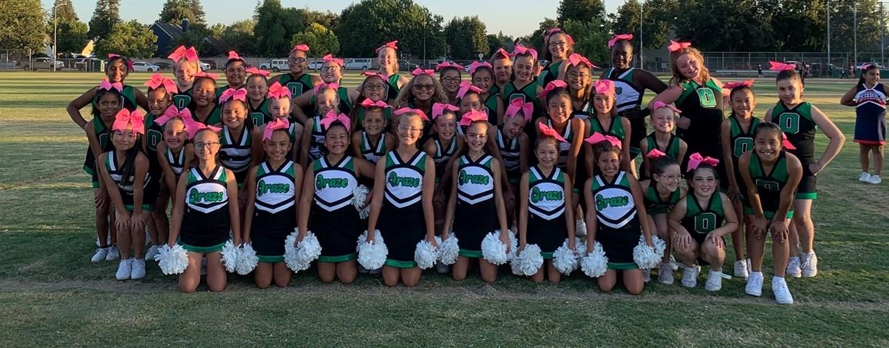 Cheer Team at Elementary Night