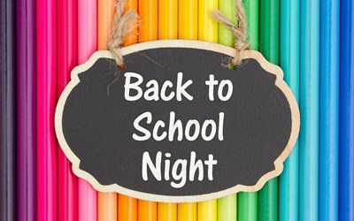 Back to School Night sign