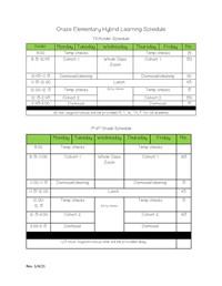 Hybrid Bell Schedule